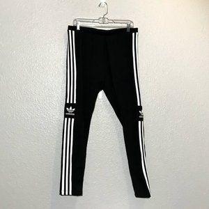 NWT Adidas Trefoil Black and White Tights Leggings